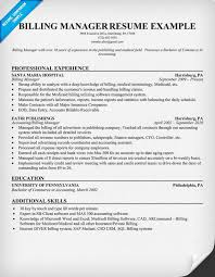 billing resume exles billing resume exles billing manager resume exle