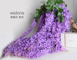 cheap garlands for weddings 1 6 meter artificial purple wisteria vine rattan