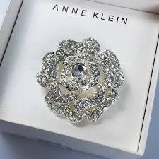 anne klein bracelet images Anne klein silver tone flower brooch pin poshmark jpg
