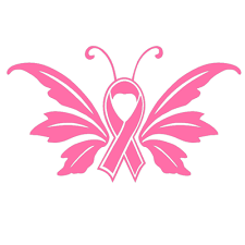 4 5 x 2 5 breast cancer ribbon awareness survivor winking
