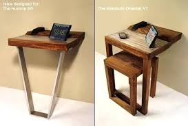 chairside table with charging station charging end table flip turn a 3 end table into a beautiful charging
