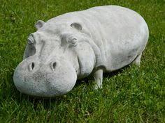 hippopotamus garden sculpture hippo ornament 27 concrete