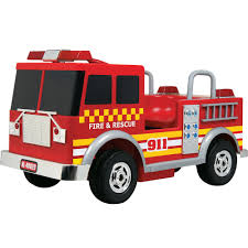 kalee 12v ride on fire truck walmart com