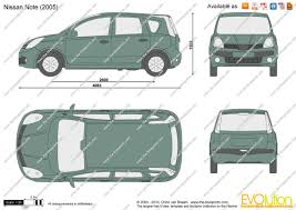 nissan note 2006 the blueprints com vector drawing nissan note