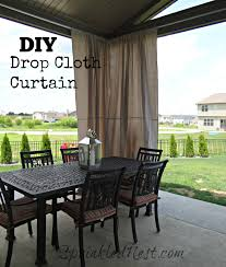 Diy Drop Cloth Curtains Drop Cloth Outdoor Curtains Sprinkled Nest