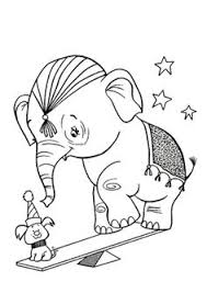 elephant action on circus coloring pages elephants pinterest