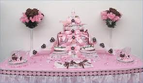 pink and brown baby shower pink baby shower table decorations centerpiece ideas for ba shower