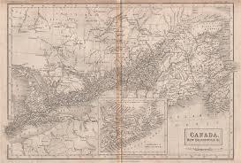 map of east canada east canada new brunswick scotia britannica 1860 antique map