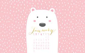 free january desktop calendar paint me pink 2016 loversiq