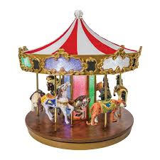 mr christmas mr christmas shimmering grand carousel box with