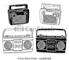 old radios hand drawn vector radios easily editable vector