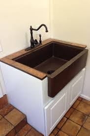 how to install an apron sink in an existing cabinet 30 hammered copper apron front single basin kitchen sink