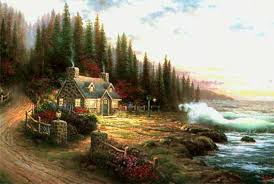 by kinkade pine cove cottage