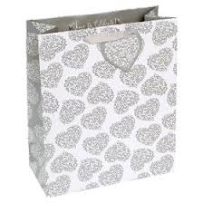 george home silver hearts large gift bag asda groceries