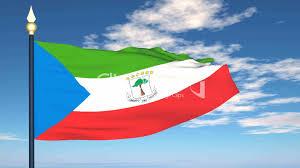 Guinea Ecuatorial Flag Flag Of Guinea Ecuatorial Vídeos De Archivo Y Clips Libres De