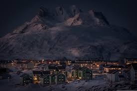 Winter Houses Wallpaper Snow Mountains Winter Houses Fires Lake Nuuk