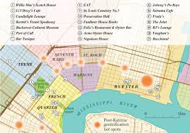 New Orleans Tourist Map by Exploring New Orleans Canadian Geographic