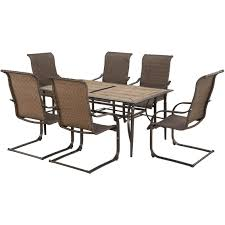 Courtyard Creations Patio Furniture by Courtyard Creations Pinehurst 7 Pc Dining Set Patio Lawn