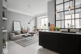 deco cuisine appartement décoration grise dans un petit appartement