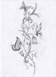 best 25 flower vine tattoos ideas on