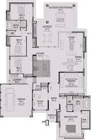 Wide House Plans by 18m Wide Home Designs Perth Vision One Homes