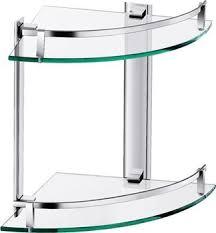 aluminium double glass shelf corner shelf bathroom shelf buy