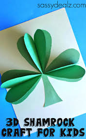 3d paper shamrock craft for st patrick u0027s day 3d paper 3d and