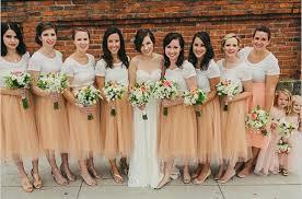 tulle skirt bridesmaid custome made bridesmaid dresses tulle skirt tea length
