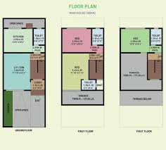 floor plan palm realties green lagoon at vajreshwari taluka