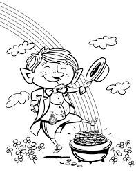 cute leprechaun coloring page getcoloringpages com