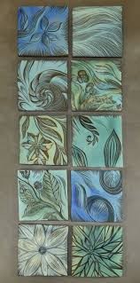 256 best pottery wall tiles images on pinterest clay tiles beautiful blues ceramic botanical design tiles for your