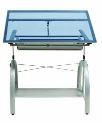 Glass Top Drafting Drawing Table Studio Designs Avanta Drafting Table In Silver With