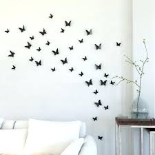 3d Butterfly Wall Decal Colorful Design Art Butterfly Wall