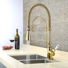 Premium Kitchen Faucet Rolya Luxurious Premium Commercial Pre Rinse Golden Pull