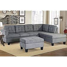 Grey Sectional Sofas 3pc Modern Reversible Grey Charcoal Sectional Sofa