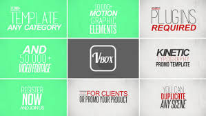 kinetic typography promo by victorybox videohive