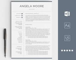 resume templates pages résumé templates etsy