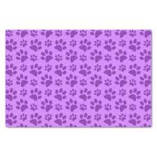 paw print tissue paper purple paw prints pattern tissue paper zazzle
