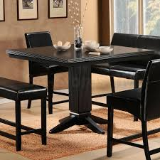 black kitchen table with storage dinettestyle store for many more