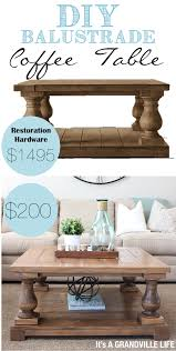Restoration Hardware Coffee Table It S A Grandville Diy Balustrade Coffee Table
