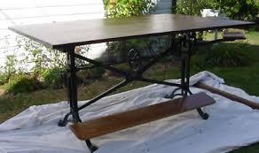 Iron Drafting Table Keuffel Esser K E Antique Cast Iron Drafting Table Nr Antique