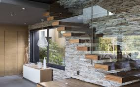houses interior design pictures farmhouse stone and wood stairs