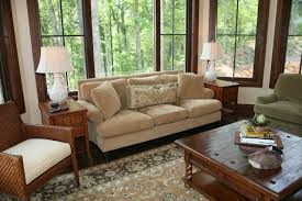 Remodeling Family Room Design With Beige Couch Pillow  Wood Sofa - Family room sofa