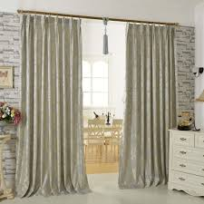 curtains for livingroom gray floral jacquard artificial fiber modern curtains for living room