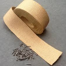 Rubber Upholstery Webbing Flax Upholstery Lining Fabric Fire Retardant Flax Upolstery Lining