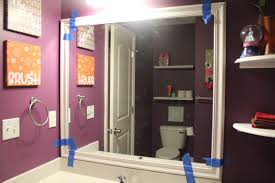Frame Around Bathroom Mirror by How To Frame A Bathroom Mirror With Molding All About House Design