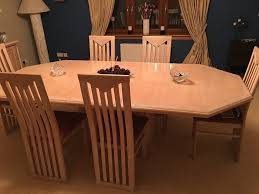 pickled pine dining room table and 6 chairs in east kilbride
