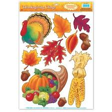 thanksgiving window clings 11 sheet partycheap