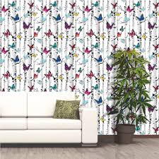 muriva emperor u0027s garden butterfly tree pattern vinyl wallpaper e71820