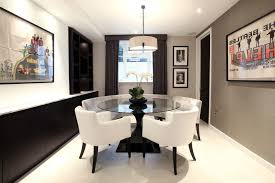 round glass table ideas dining room transitional with round dining